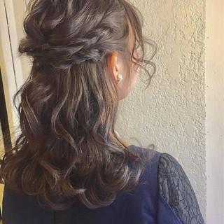 簡単ヘアアレンジ ショート 結婚式 ミディアム ヘアスタイルや髪型の写真・画像