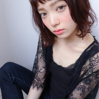 前髪あり 外国人風カラー 透明感 ボブ ヘアスタイルや髪型の写真・画像