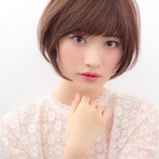 大人かわいい かわいい ショート ナチュラル ヘアスタイルや髪型の写真・画像