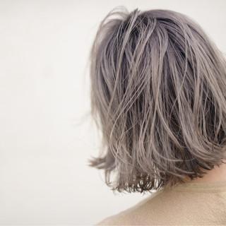 ストリート アンニュイ ピンク ボブ ヘアスタイルや髪型の写真・画像