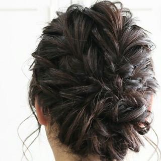 大人かわいい セミロング 結婚式 ゆるふわ ヘアスタイルや髪型の写真・画像
