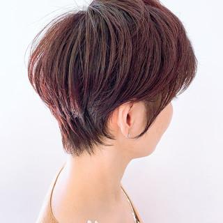 ショート ベリーショート ミニボブ ナチュラル ヘアスタイルや髪型の写真・画像