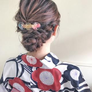 和装 夏 お祭り 涼しげ ヘアスタイルや髪型の写真・画像