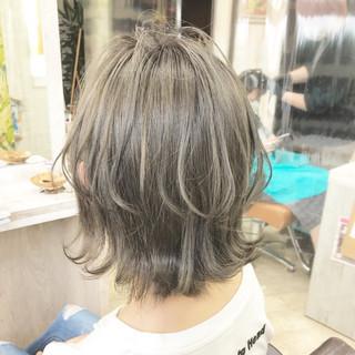 インナーカラー ショートボブ ボブ ベリーショート ヘアスタイルや髪型の写真・画像