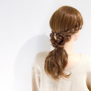 セミロング オフィス デート アウトドア ヘアスタイルや髪型の写真・画像