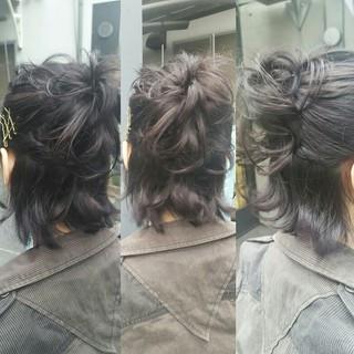 ストリート ハーフアップ 暗髪 大人女子 ヘアスタイルや髪型の写真・画像