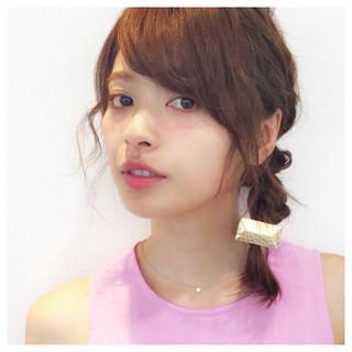 ミディアム 簡単ヘアアレンジ 大人女子 ショート ヘアスタイルや髪型の写真・画像