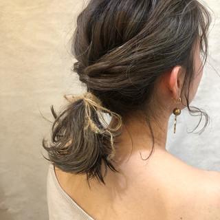 オフィス フェミニン ヘアアレンジ デート ヘアスタイルや髪型の写真・画像