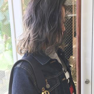 暗髪 外国人風 ボブ ニュアンス ヘアスタイルや髪型の写真・画像