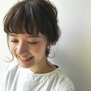 ヘアアレンジ ナチュラル ミディアム 簡単ヘアアレンジ ヘアスタイルや髪型の写真・画像
