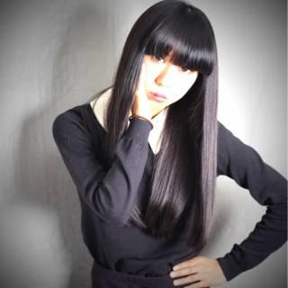 黒髪 モード ロング コンサバ ヘアスタイルや髪型の写真・画像