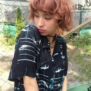 ボブ 黒髪 外国人風 グラデーションカラー ヘアスタイルや髪型の写真・画像