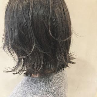 グラデーションカラー ボブ アッシュ ナチュラル ヘアスタイルや髪型の写真・画像