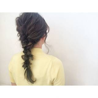 ヘアアレンジ 簡単ヘアアレンジ 編み込み ショート ヘアスタイルや髪型の写真・画像