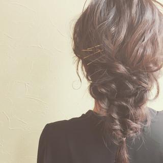 結婚式 大人かわいい ラフ フェミニン ヘアスタイルや髪型の写真・画像