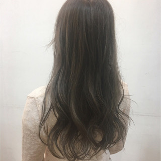 外国人風 外国人風カラー ロング ハイライト ヘアスタイルや髪型の写真・画像