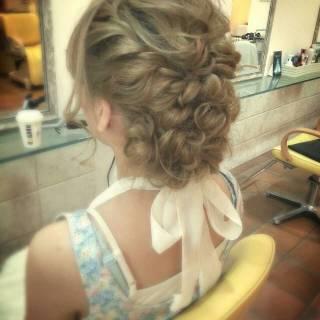 ガーリー 愛され ヘアアレンジ モテ髪 ヘアスタイルや髪型の写真・画像