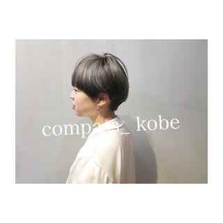 アンニュイ パープル アッシュ ナチュラル ヘアスタイルや髪型の写真・画像