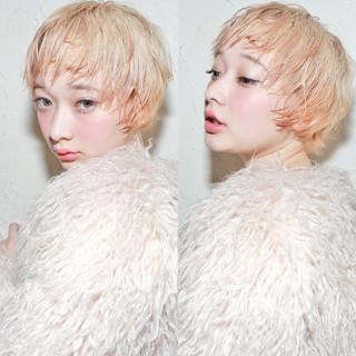 パーマ ガーリー ショート 外国人風 ヘアスタイルや髪型の写真・画像