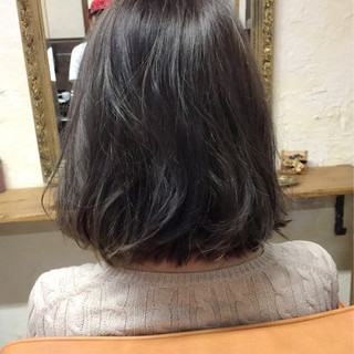 ボブ ニュアンス 色気 ナチュラル ヘアスタイルや髪型の写真・画像