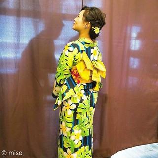 花火大会 和装 フェミニン 夏 ヘアスタイルや髪型の写真・画像