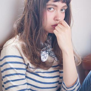 ゆるふわ セミロング ブルージュ パーマ ヘアスタイルや髪型の写真・画像