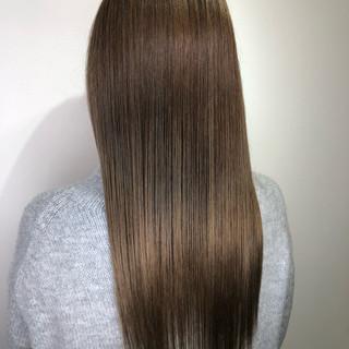 ナチュラル ストレート ロング ヘアアレンジ ヘアスタイルや髪型の写真・画像
