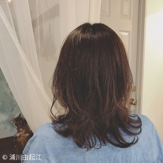 ミディアム 大人かわいい ヘアアレンジ デジタルパーマ ヘアスタイルや髪型の写真・画像