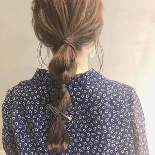 ナチュラル 簡単ヘアアレンジ セルフアレンジ セミロング ヘアスタイルや髪型の写真・画像