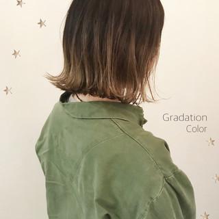 こなれ感 ボブ グラデーションカラー ストリート ヘアスタイルや髪型の写真・画像