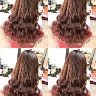 ガーリー ロング ウェーブ 春ヘア ヘアスタイルや髪型の写真・画像