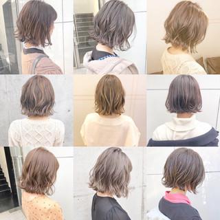 ヘアアレンジ ボブ デート フェミニン ヘアスタイルや髪型の写真・画像