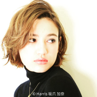 モード ハイライト グラデーションカラー アッシュ ヘアスタイルや髪型の写真・画像