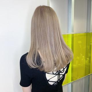 透明感 ハイトーンカラー 最新トリートメント ロング ヘアスタイルや髪型の写真・画像