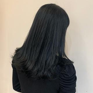 ミディアム ブルージュ ブリーチなし ナチュラル ヘアスタイルや髪型の写真・画像