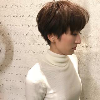 デート ショート ナチュラル リラックス ヘアスタイルや髪型の写真・画像