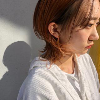 ベリーショート モード インナーカラー ウルフカット ヘアスタイルや髪型の写真・画像