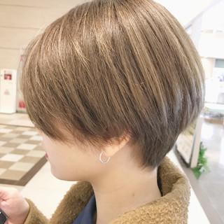 ショート デート アウトドア ハンサムショート ヘアスタイルや髪型の写真・画像