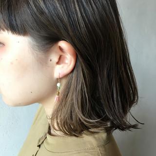 外国人風カラー ストリート インナーカラー ボブ ヘアスタイルや髪型の写真・画像