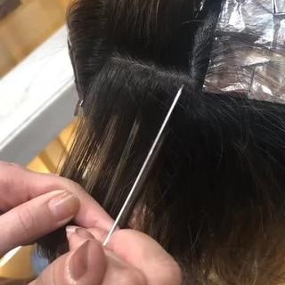 ハイライト ヘアアレンジ ロング モード ヘアスタイルや髪型の写真・画像