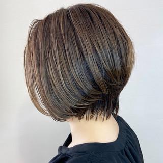 ショートヘア ボブ ハイライト ショートボブ ヘアスタイルや髪型の写真・画像