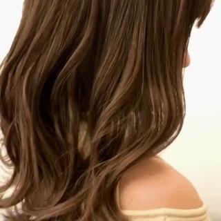 バレイヤージュ グラデーションカラー エアータッチ 3Dハイライト ヘアスタイルや髪型の写真・画像