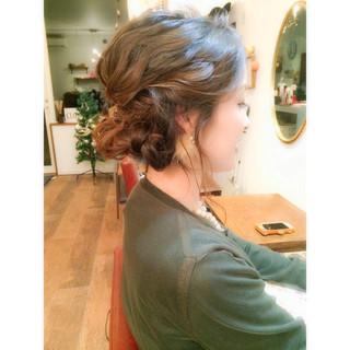 編み込み 着物 結婚式 ヘアアレンジ ヘアスタイルや髪型の写真・画像
