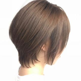 ショートボブ ハンサムショート ミニボブ デート ヘアスタイルや髪型の写真・画像