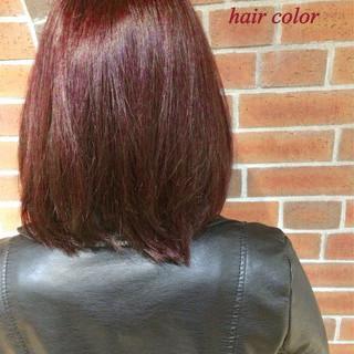 ピンク ボブ 外国人風 ストリート ヘアスタイルや髪型の写真・画像