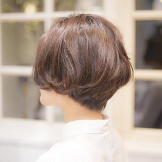大人かわいい ナチュラル ショート 簡単 ヘアスタイルや髪型の写真・画像