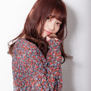 ロング ピンクバイオレット ラベンダーピンク ロングヘア ヘアスタイルや髪型の写真・画像