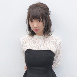 ヘアアレンジ 女子力 簡単ヘアアレンジ ガーリー ヘアスタイルや髪型の写真・画像