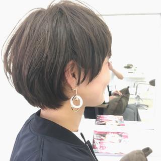 ショート 大人女子 マッシュ 大人かわいい ヘアスタイルや髪型の写真・画像