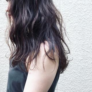 デジタルパーマ 暗髪 ロング ロブ ヘアスタイルや髪型の写真・画像